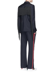 Gucci Fringe trim mohair-wool blazer