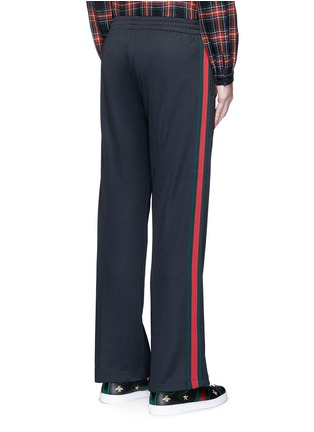 Back View - Click To Enlarge - Gucci - Stripe trim jogging pants