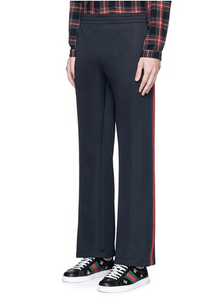 Front View - Click To Enlarge - Gucci - Stripe trim jogging pants