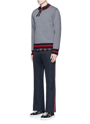 Figure View - Click To Enlarge - Gucci - Stripe trim jogging pants
