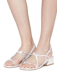Dries Van Noten Metallic leather strappy sandals
