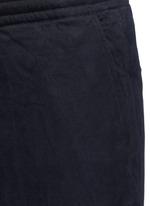 Standard fit drawstring corduroy pants