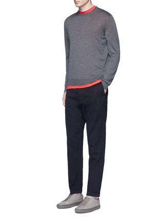 Figure View - Click To Enlarge - PS by Paul Smith - Standard fit drawstring corduroy pants