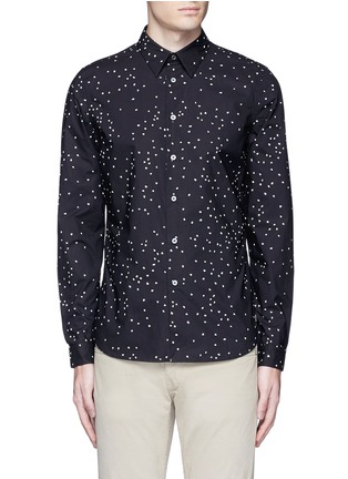 Main View - Click To Enlarge - PS by Paul Smith - Micro heart print cotton shirt