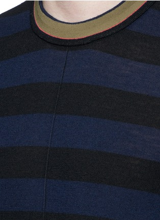 Detail View - Click To Enlarge - PS by Paul Smith - Contrast neck stripe wool sweater