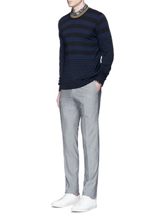 PS by Paul Smith Contrast neck stripe wool sweater