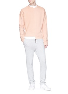 Safe Sunday x Lane Crawford Reverse panel asymmetric sweatshirt