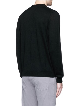 Back View - Click To Enlarge - PS by Paul Smith - 'Chain-link Heart' Merino wool sweater