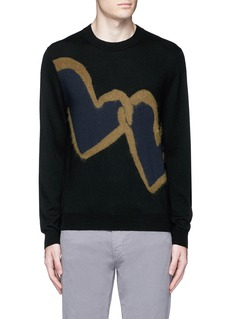 PS by Paul Smith'Chain-link Heart' Merino wool sweater