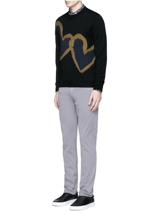 Figure View - Click To Enlarge - PS by Paul Smith - 'Chain-link Heart' Merino wool sweater