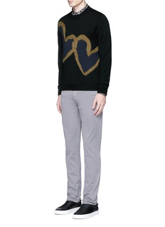 PS by Paul Smith 'Chain-link Heart' Merino wool sweater