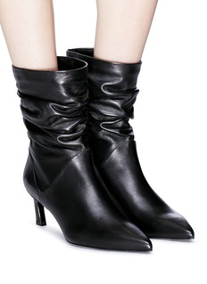 Stuart Weitzman 'Demibenatar' ruched leather ankle boots