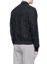 Polka dot jacquard cotton-wool bomber jacket