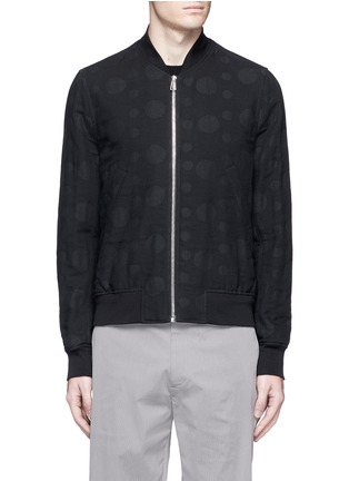 Main View - Click To Enlarge - PS by Paul Smith - Polka dot jacquard cotton-wool bomber jacket