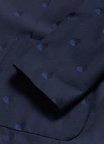 Heart jacquard cotton-wool blazer