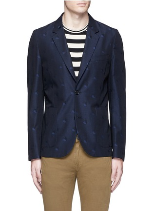 Main View - Click To Enlarge - PS by Paul Smith - Heart jacquard cotton-wool blazer