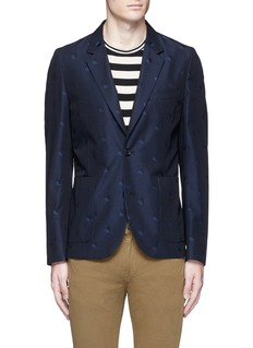 PS by Paul Smith Heart jacquard cotton-wool blazer