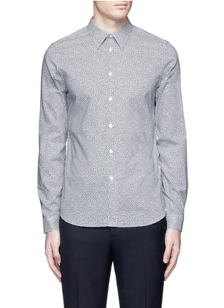 PS by Paul Smith - 'Mini Heart' print cotton poplin shirt