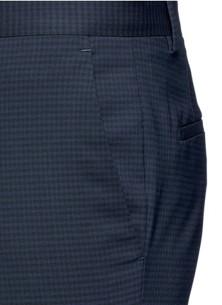 Detail View - Click To Enlarge - PS by Paul Smith - Slim fit micro check wool pants