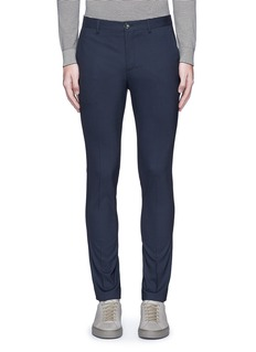 PS by Paul Smith Slim fit micro check wool pants
