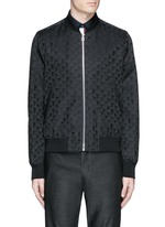 'Chain-Link Heart' jacquard bomber jacket