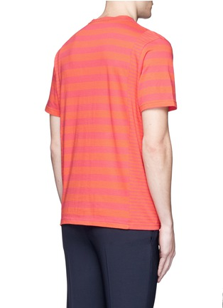 Back View - Click To Enlarge - PS by Paul Smith - Stripe cotton T-shirt