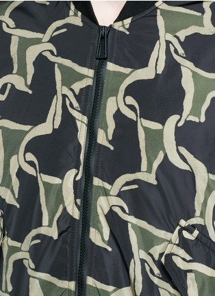 Detail View - Click To Enlarge - PS by Paul Smith - 'Chain-link Heart' print bomber jacket