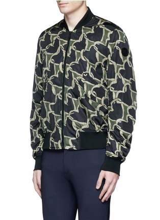 Front View - Click To Enlarge - PS by Paul Smith - 'Chain-link Heart' print bomber jacket
