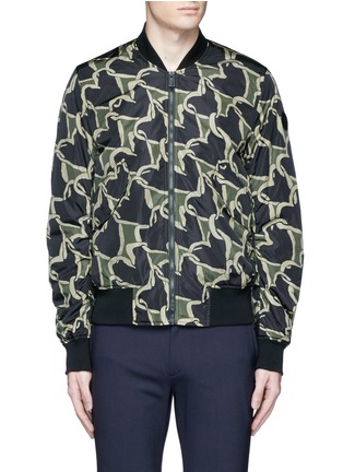 Main View - Click To Enlarge - PS by Paul Smith - 'Chain-link Heart' print bomber jacket