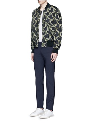Figure View - Click To Enlarge - PS by Paul Smith - 'Chain-link Heart' print bomber jacket