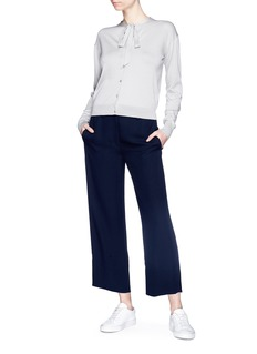 Theory Silk georgette culottes