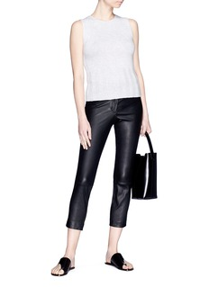 Theory 'Classic Skinny' cropped leather pants