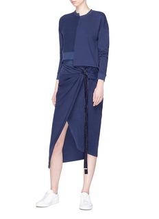 Safe Sunday x Lane Crawford Knot front reverse panel midi sweat skirt