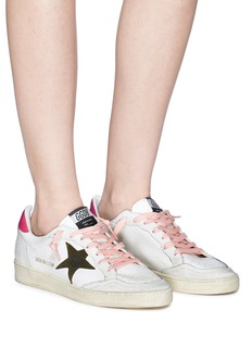 Golden Goose 'Ball Star' patch leather sneakers