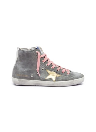 Main View - Click To Enlarge - Golden Goose - 'Francy' suede high top sneakers