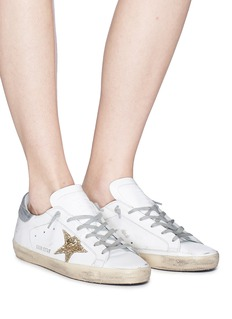 Golden Goose 'Superstar' glitter star leather sneakers