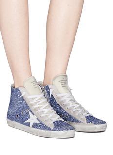 Golden Goose 'Francy' glitter suede high top sneakers