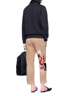 Gucci Dragon appliqué cropped corduroy pants
