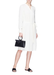 Theory 'Effortless' belted silk tunic dress