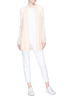 Theory Drape front cashmere open cardigan