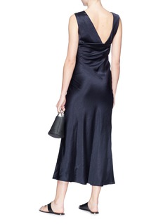 Theory Cowl back sateen dress