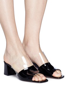NEOUS 'Vanilla' clear PVC patent leather mules