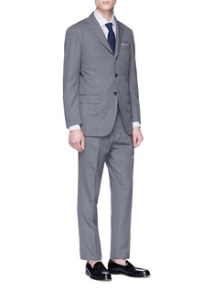 Ring Jacket Wool houndstooth suit