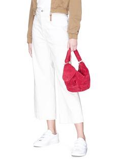 MANU Atelier 'Fernweh' micro suede handbag