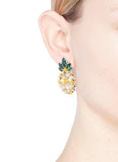 Anton Heunis Swarovski crystal pearl mini pineapple earrings