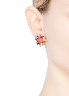 Anton Heunis Swarovski crystal cluster stud earrings