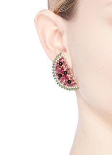 Anton Heunis Swarovski crystal watermelon slice earrings
