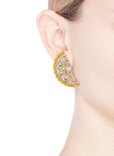 Anton Heunis Swarovski crystal pearl lemon slice earrings