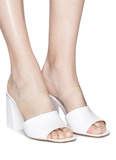 NEOUS 'Benzi' clear PVC leather mules