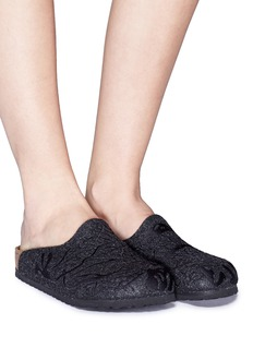 BIRKENSTOCK x Ms MIN Amsterdam盘龙刺绣羊毛平底拖鞋